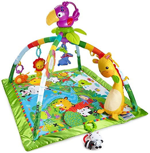 3 Stage Accessory Gym with More Than 20 Development Activities Yookidoo Baby Gym Activity Play Mat Age 0-12 Months